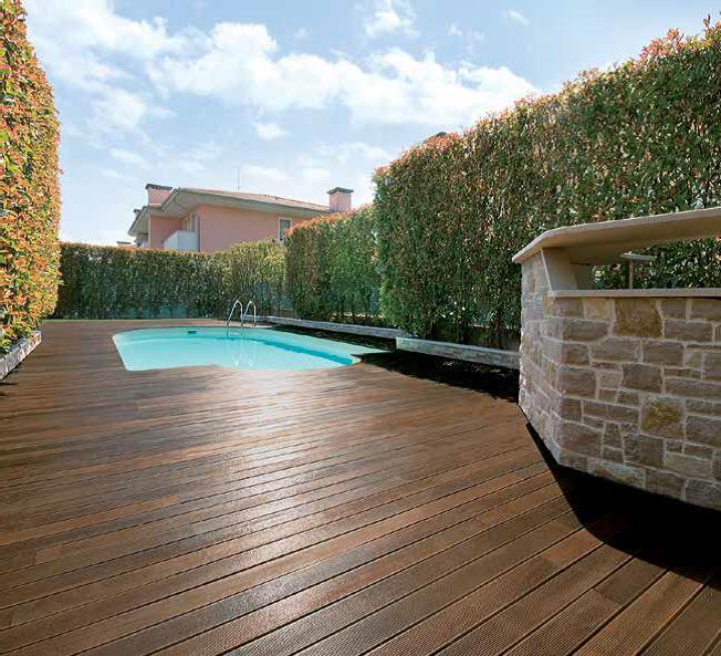 Il decking in legno composito il 39 re 39 dei pavimenti da esterno in legno - Pavimenti in legno per esterno ...